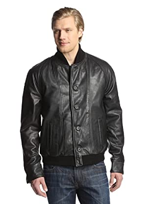 Levi's Made & Crafted Men's Leather Bomber Jacket (Black)