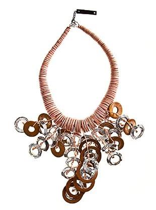 Custo Collar  rosa / marrón
