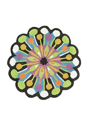Loloi Rugs Azalea Collection Round Rug (Dark Brown/Green)