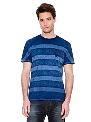 Guess Camiseta Franjas (Azul Oscuro)