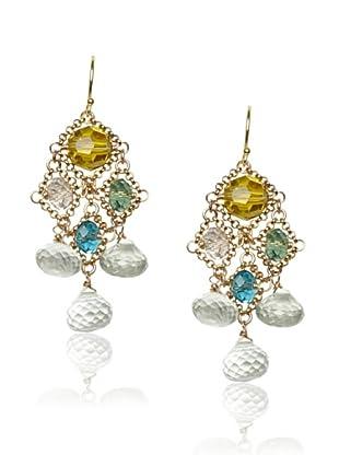 Diane Yang Chandelier Earrings, Green