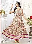 Khantil Off White Colored Designer And Flowed Printed Anarkali Suit