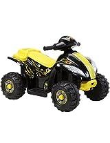 Brunte Battery operated Rideon Small ATV Hauler Yellow