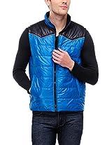 Yepme Men's Polyester Jacket (YPMJACKT0060_Blue_X-Large)