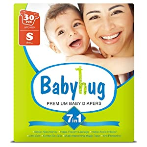 Babyhug 7 in 1 Premium Baby Diapers Small - 30 pieces
