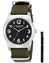 Stuhrling Original Aviator Analog Black Dial Men's Watch - 409.SET.03