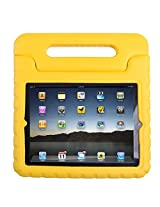 HDE Shock Proof iPad Case for Kids Bumper Cover Handle Stand for Apple iPad 2 iPad 3 iPad 4 (Yellow)