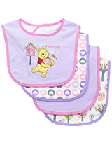 Baby Essentials Baby-Girls Newborn 4 Pack Pooh Bibs, Assorted, One Size