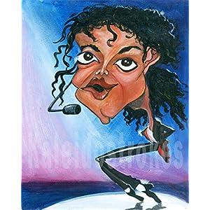 Kaleidostrokes Caricature - Michael Jackson
