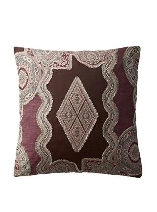 Bazaar Pillow Cover, Purple/Black