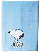 Bedtime Originals Hip Hop Snoopy Blanket, Blue