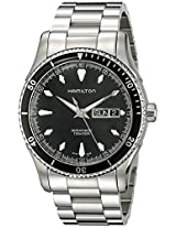 Hamilton Men's H37565131 Seaview Day Date Black Dial Watch