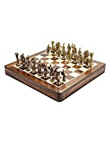 Chess Board/Set - Brass Premium Roman Chess Board - CNC-BR-4 - By CHESSNCRAFTS