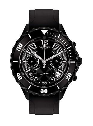 K&BROS 9174-1 / Reloj de Caballero  con correa de caucho Negro