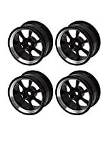 Toys Games Aluminum Alloy RC 1:10 Racing Car Black Color Wheel Rims With 7-Spoke Pack Of 4