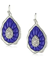 "RAIN ""Scallop"" Blue and Silver Teardrop Earrings"