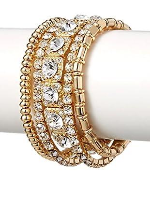 Stella & Ruby Set of 5 Crystal Stretch Bracelets