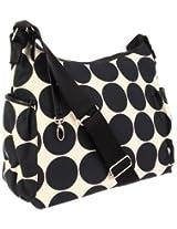 OiOi Baby Dot Hobo Diaper Bag Sand/Black