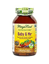 MegaFood Baby & Me Prenatal Vitamin Tablets 120 tablets
