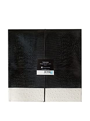 JESSEd home The Never Done Before Exotic Skin Tablecloth (Black Lizard/White Ostrich)