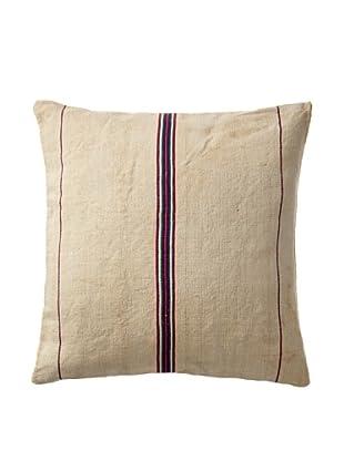Vintage Hungarian Seed Bag Fabric Pillow, Multi