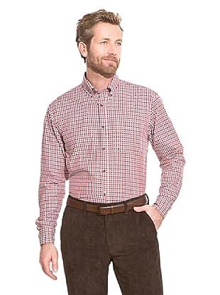 Cortefiel Camisa Vichy (Rojo)