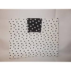 VI High Style Black & White Stars Hand Bag