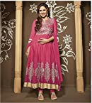 Pink Cotton Style Esha Deol In Anarkali Suit