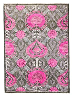 Solo Rugs Suzani Hand-Knotted Rug, Black, 5' 1