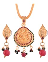Ganapathy Gems Gold Plated Pendant Set for Women (6151)