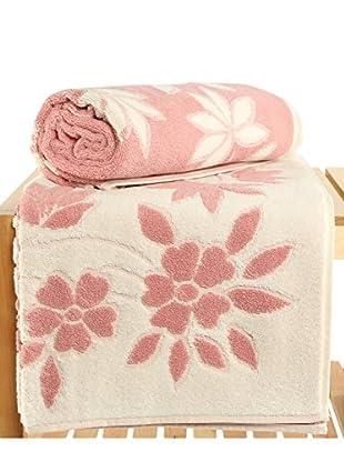 Maisonette Solvron 2-Piece Bath Towel Set, Pink