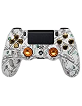 Gold Money Ps4 Custom Un Modded Controller Aluminum Thumbsticks Exclusive Unique Design