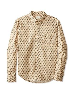 Band of Outsiders Men's Kalamkari Print Long Sleeve Shirt (Khaki)