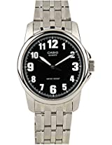 Enticer Mtp-1216A-1Bdf-1 Silver/Black Analog Watch Casio