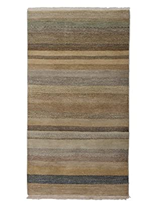 Darya Rugs Traditional Oriental Rug, Brown, 3' 1