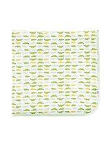 Tadpoles Receiving Blanket, Gator/Green