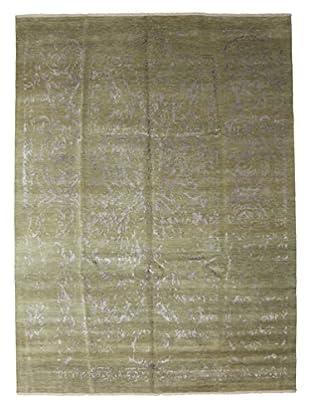 Darya Rugs Ikat Oriental Rug, Green, 9' 1
