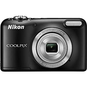 Nikon Coolpix L29 16.1 MP Point and Shoot Camera (Black) with 5x Optical Zoom, Memory Card and Camera Case