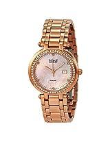 Burgi Quartz Rose Gold-Tone Diamond Bracelet Ladies Watch - Bi-Bur055Rg
