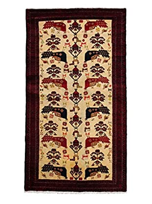 Darya Rugs Persian One-of-a-Kind Rug, Red, 3' 5