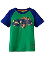 Unamia Boys Cotton Printed Green Half Sleeve Tshirt - Fba_300537