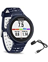 Garmin Forerunner 630 GPS Smartwatch - Midnight Blue - Charging Clip Bundle includes Forerunner 630 GPS and Charging Clip