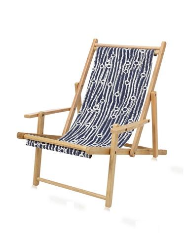 Julie Brown Wooden Reversible Adult Chair (Navy Chain/Harbor)
