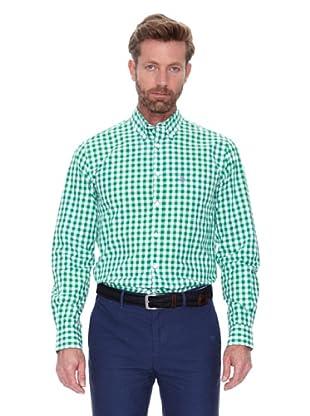 Cortefiel Camisa Cuadro Vichy (Verde Oscuro)