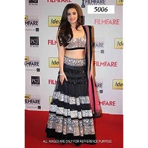 Amazing stylist personality with alia bhatt black color lehenga