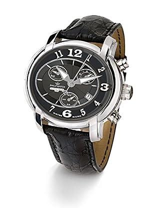 Philip Watch Quarzuhr Anniversary schwarz 46  mm