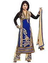 CrazeVilla women Blue color party wear straight salwar suit