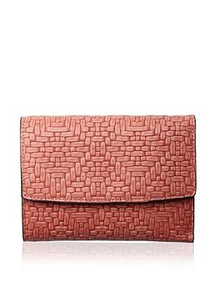 Treesje Women's Snap Wallet (Coral Woven)
