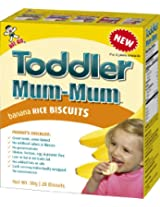 Hot-Kid Toddler Mum-Mum Banana Flavor Rice Biscuit, 20-pieces, (50 g) (Pack of 6)