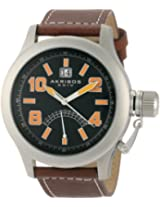 Akribos XXIV Men's Brown Leather Analogue Watch - AKR407OG